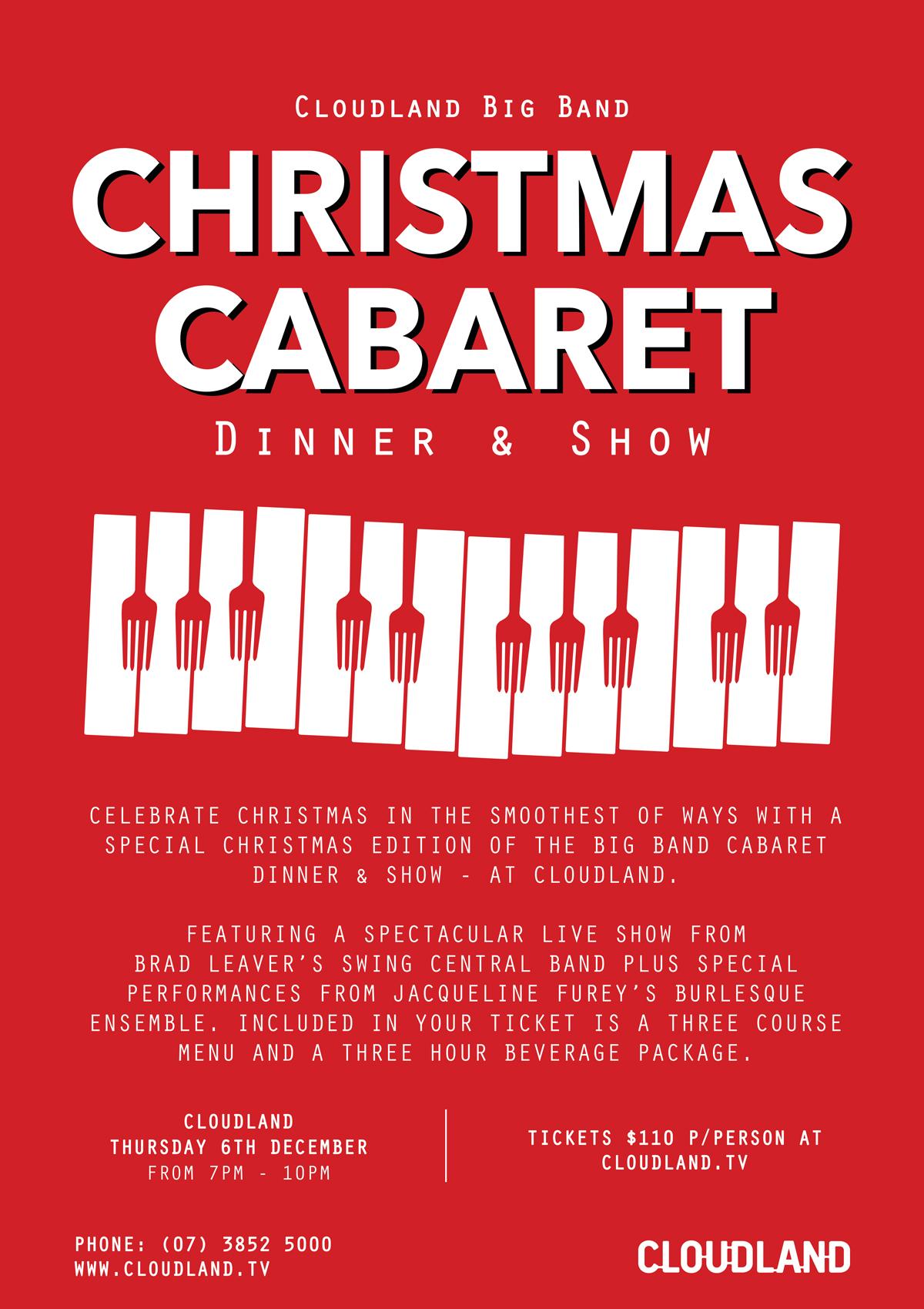 Cloudland Christmas Cabaret Dinner & Show