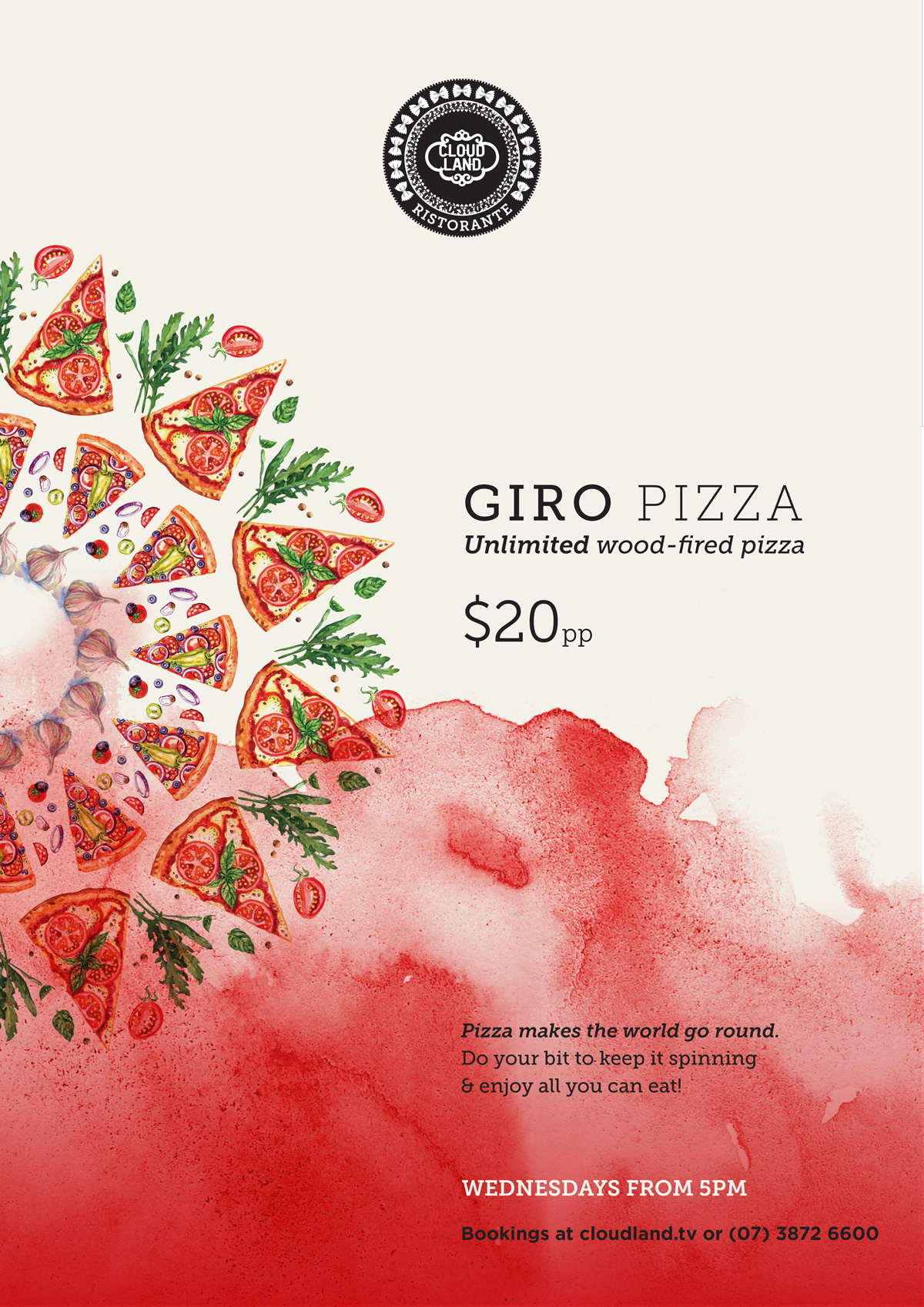 Cloudland Giro Pizza Wednesday