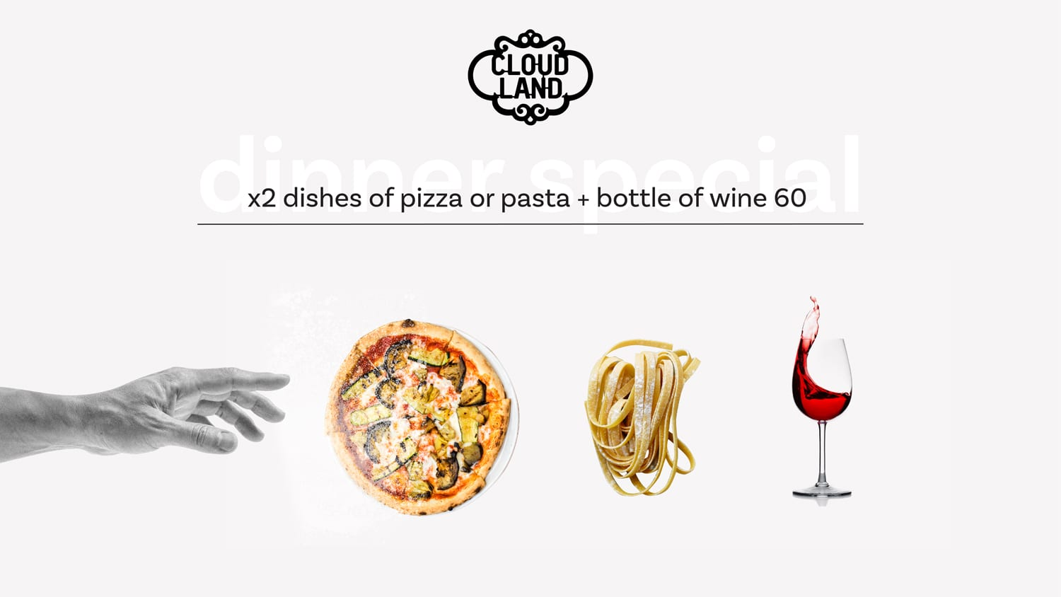 Cloudland Thursday Pizza and Pasta and Wine